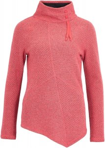 Prana Mattea Sweater Frauen Gr. L - Fleecepullover - pink-rosa|grau