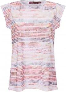 Prana Myrtle Top Frauen Gr. L - T-Shirt - pink-rosa weiß