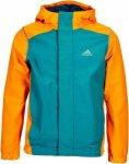 Adidas Lieblings Jacket Kinder Gr. 128 - Regenjacke - grün orange
