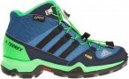 Adidas Terrex Mid Gtx Kinder Gr. 39 - Wanderstiefel - blau|grün