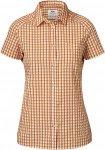 Fjällräven Abisko Seersucker Shirt S Frauen Gr. XS - Outdoor Bluse - rotbraun|
