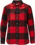 Fjällräven Canada Shirt LS Frauen Gr. L - Outdoor Bluse - rot|schwarz