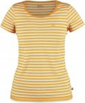 Fjällräven High Coast Stripe T-S Frauen Gr. XS - Funktionsshirt - orange|beige
