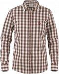 Fjällräven Sörmland Shirt L/S Frauen Gr. S - Outdoor Hemd - braun|weiß