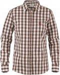 Fjällräven Sörmland Shirt L/S Frauen Gr. XS - Outdoor Hemd - braun|weiß