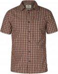 Fjällräven Svante S/S Shirt Männer Gr. S - Outdoor Hemd - braun