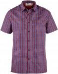 Fjällräven Svante Shirt SS Männer Gr. XXL - Outdoor Hemd - rot|blau