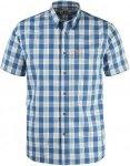 Fjällräven Övik Button Down Shirt S/S Männer Gr. S - Outdoor Hemd - blau|wei
