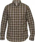 Fjällräven Övik Check Shirt LS Männer Gr. L - Outdoor Hemd - oliv-dunkelgrü