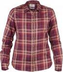 Fjällräven Övik Flannel Shirt LS Frauen Gr. XS - Outdoor Bluse - rotbraun|bei