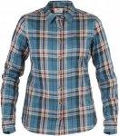 Fjällräven Övik Flannel Shirt LS Frauen Gr. XS - Outdoor Bluse - petrol-türk