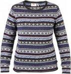 Fjällräven Övik Folk Knit Sweater W Frauen Gr. S - Wollpullover - blau
