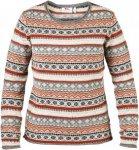 Fjällräven Övik Folk Knit Sweater W Frauen Gr. S - Wollpullover - grau rot