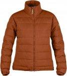 Fjällräven Övik Lite Jacket Frauen Gr. S - Daunenjacke - orange|braun