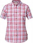 Fjällräven Övik Shirt S/S Frauen Gr. XS - Outdoor Bluse - pink-rosa