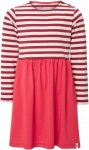 FRILUFTS Peniche L/S Dress Kinder Gr. 116 - Kleid - rot|weiß