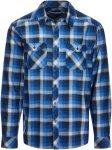 Icebreaker Lodge LS Flannel Shirt Männer Gr. S - Outdoor Hemd - blau