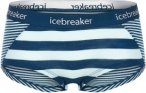 Icebreaker Sprite Hot pants Frauen - Funktionsunterwäsche - blau|weiß