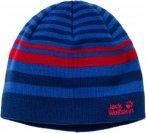 Jack Wolfskin Cross Knit Cap Kinder Gr. S - Mütze - blau|rot