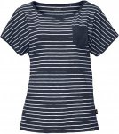 Jack Wolfskin Travel Striped T Frauen Gr. M - Funktionsshirt - blau|weiß