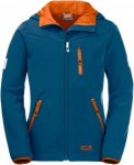 Jack Wolfskin WHIRLWIND Kinder Gr. 116 - Softshelljacke - blau|orange