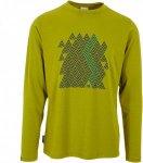 Mountain Equipment Zig Zag L/S Tee Männer Gr. XL - Funktionsshirt - grün