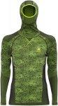 Odlo L/S Shirt Facemask Blackcomb Evol. Männer Gr. S - Funktionsshirt - oliv-du