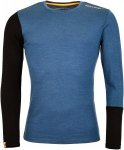Ortovox 185 Rock 'N' Wool LONG SLEEVE Männer Gr. XXL - Funktionsshirt - blau