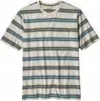 Patagonia M' S SQUEAKY CLEAN POCKET TEE Männer Gr. M - T-Shirt - beige-sand|bla