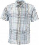 Patagonia Puckerware S/S Shirt Männer Gr. S - Outdoor Hemd - blau|weiß