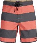 "Patagonia Scallop Hem Wavefarer Board Shorts 18"" Männer - Badehose - rot grau"