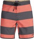 "Patagonia Scallop Hem Wavefarer Board Shorts 18"" Männer - Badehose - rot|grau"