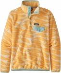 Patagonia W' S LW SYNCH SNAP-T P/O Frauen Gr.L - Fleecepullover - orange|petrol-