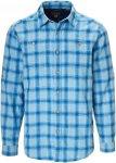 Royal Robbins COOL MESH LINEN PLAID L/S Männer Gr.S - Outdoor Hemd - blau