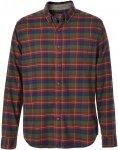 Royal Robbins Lieback Flannel L/S Männer Gr. L - Outdoor Hemd - rotbraun|oliv-d