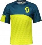 Scott Trail 30 S/SL Shirt Männer - Funktionsshirt - gelb blau