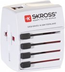 SKROSS World Adapter MUV USB 2.4 - Reisestecker - weiß