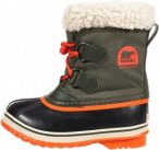 Sorel Yoot Pac Nylon Kinder Gr. 30 - Winterstiefel - oliv-dunkelgrün|orange