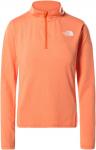 The North Face W RISEWAY 1/2 ZIP TOP Frauen Gr.XL - Fleecepullover - orange