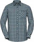 Vaude Heimer LS Shirt II Männer Gr. S - Outdoor Hemd - grau|petrol-türkis