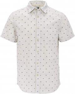 The North Face SS Pursuit Jacq Shirt Männer Gr. M - Outdoor Hemd - weiß