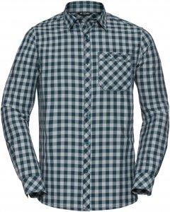 Vaude Heimer LS Shirt II Männer Gr. M - Outdoor Hemd - grau|petrol-türkis