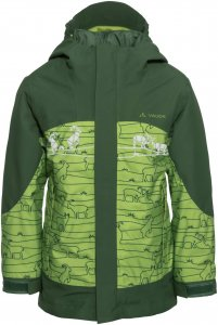 Vaude Suricate 3in1 Jacket III AOP Kinder Gr. 104 - Doppeljacke - grün|oliv-dunkelgrün