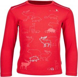 Vaude Zodiak LS Shirt V Kinder Gr. 98 - Funktionsshirt - rot
