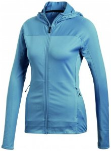 adidas - Women's Tracerocker Hooded Fleece Jacket Gr 40 blau/türkis