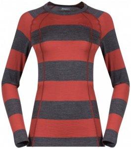 Bergans - Fjellrapp Lady Shirt Gr XS schwarz/rot