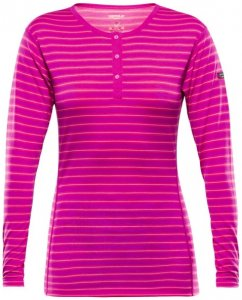 Devold - Breeze Woman Button Shirt - Merinounterwäsche Gr L rosa