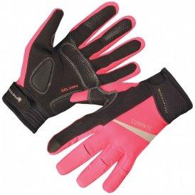 Endura Luminite Handschuhe Women - Radhandschuhe mit Refektoren - neon pink - Gr.M