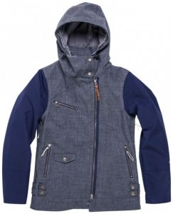 Holden - Women's Moto Jacket - Winterjacke Gr S blau/grau