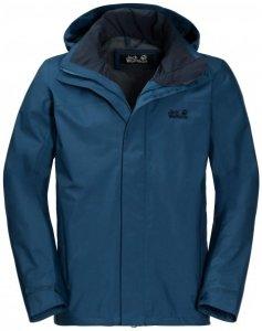 Jack Wolfskin - Highland Jacket - Hardshelljacke Gr L - Short;S - Short schwarz;blau/schwarz